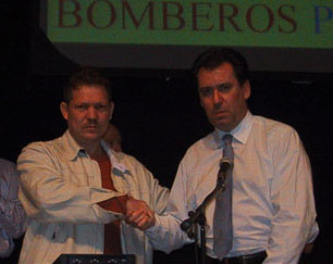 Bomberos presente! Luis Hernandez with Fire Brigades Union General Secretary Andy Gilchrist